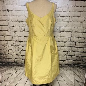 Ann Taylor Silk Yellow Dress, Size 12. NWT.